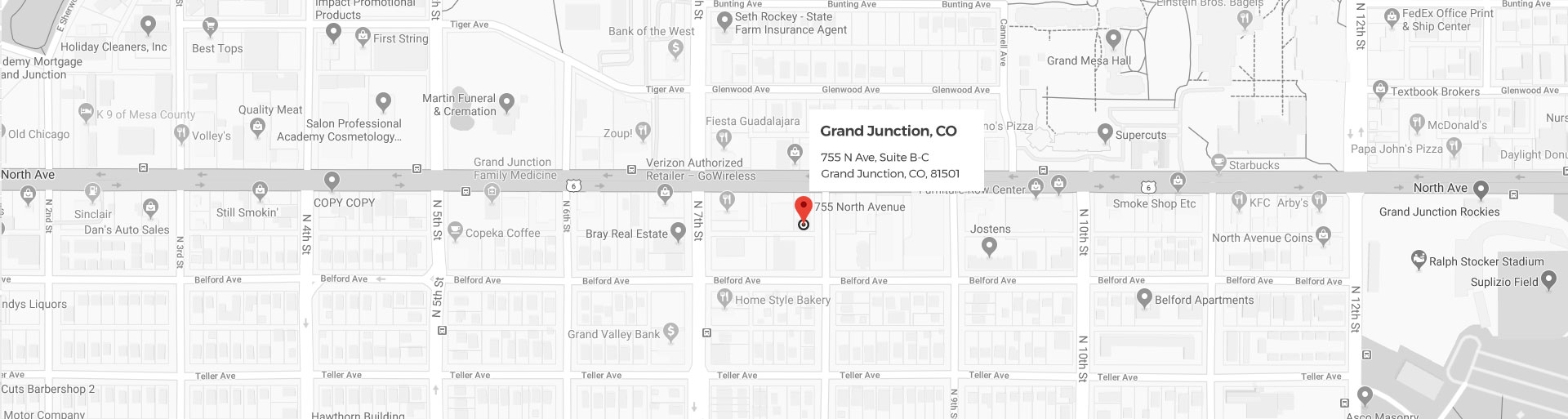 Grand Junction Google Location